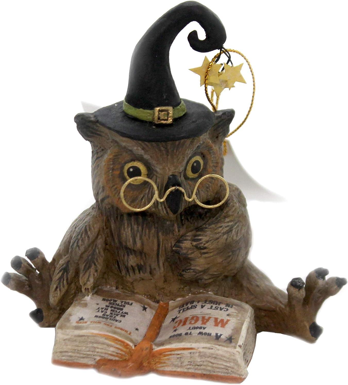 "Bethany Lowe 4"" Old Wizard Owl Witch Halloween Retro Vintage Style Decor Figurine"