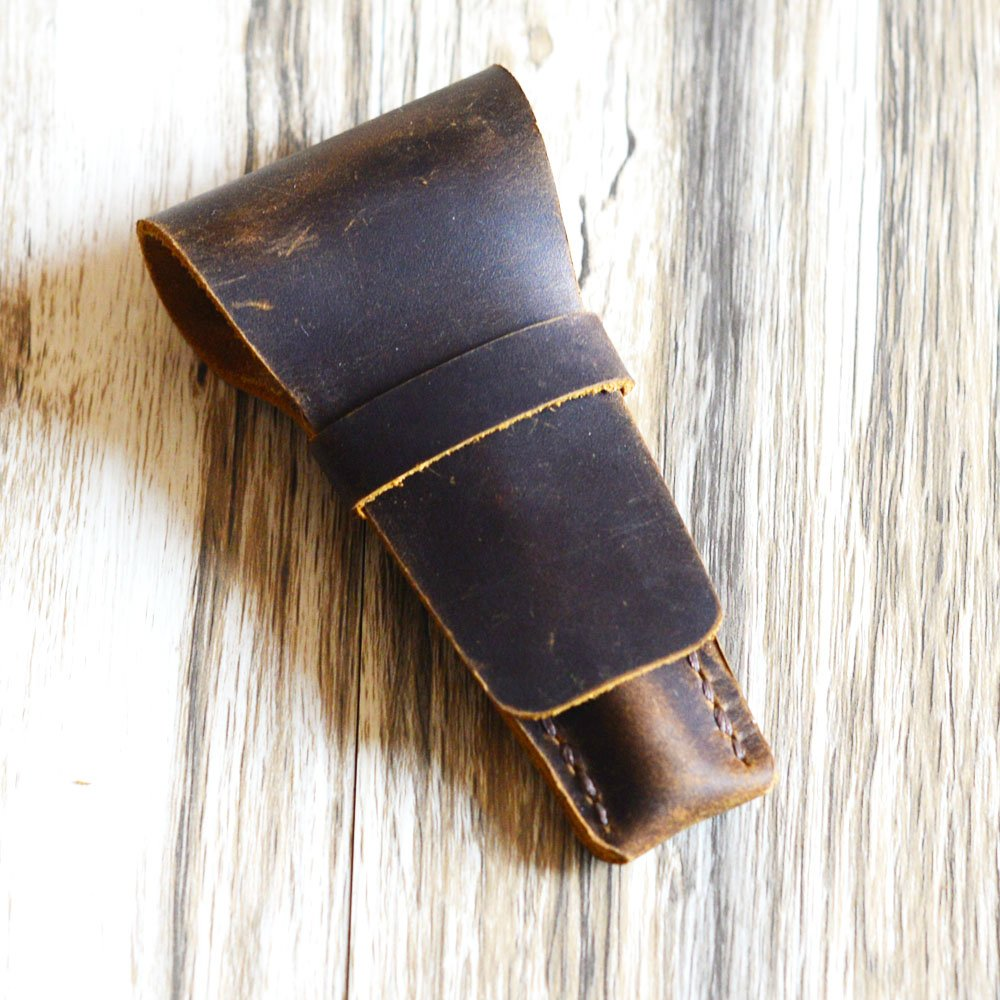 Personalized Genuine Leather Protective /& Travel Case for Handled Traditional Double Edge Safety Razor