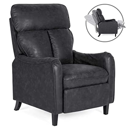 Magnificent Best Choice Products Upholstered Faux Leather English Roll Arm Chair Lounge Recliner Seat Home Furniture For Living Room Bedroom W 160 Degree Andrewgaddart Wooden Chair Designs For Living Room Andrewgaddartcom