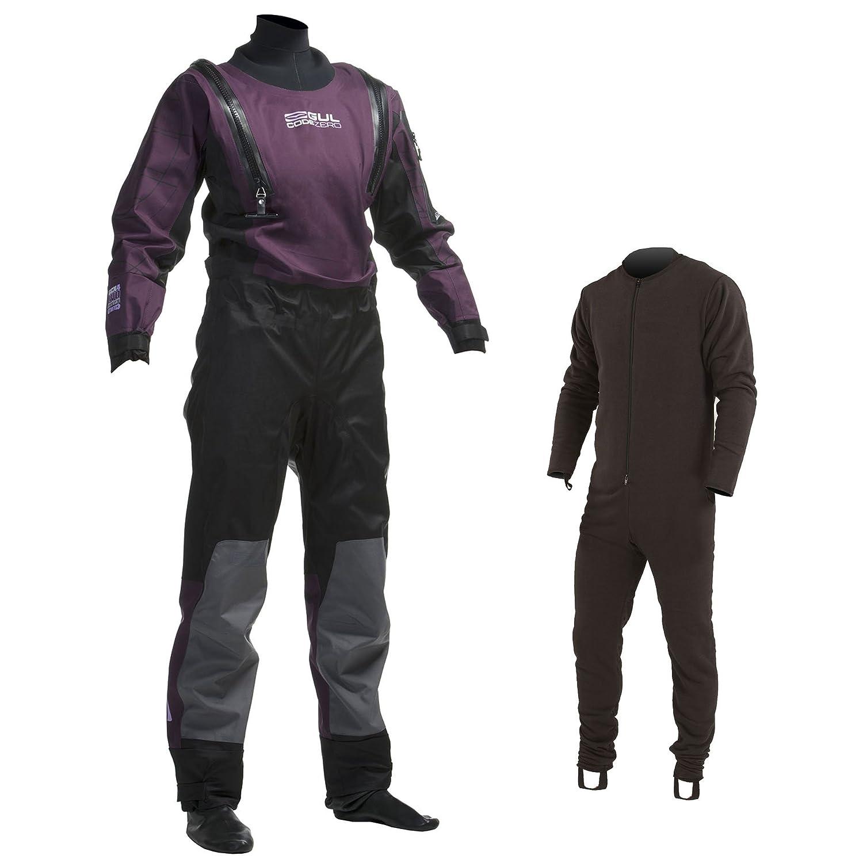 Gul Ladiesコードゼロu-zip Dry Suit in Black/Plum gm0373 Ladies Large  B00PM3TIDU
