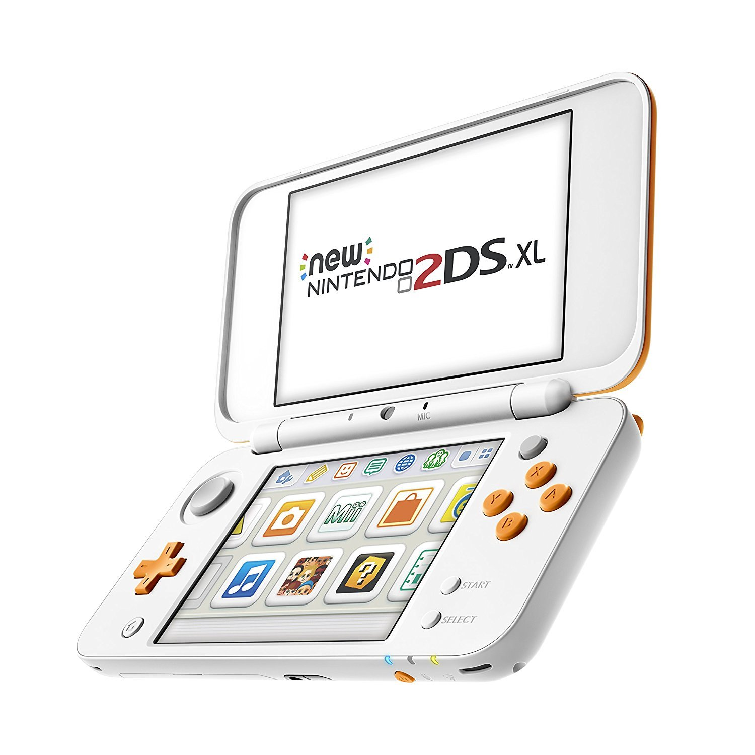 Amazon.com: New Nintendo 2DS XL Weiß + Orange, 1 Konsole ...