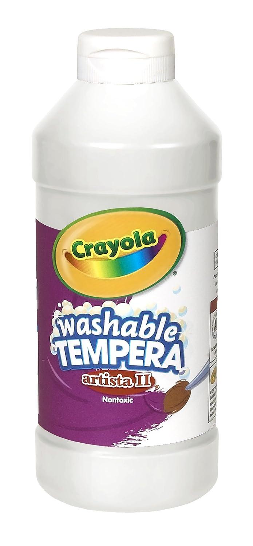 Crayola. 543115053 Artista II Peinture Tempera lavable, blanc, 16 oz BINNEY & SMITH / CRAYOLA 54-3115-3-053