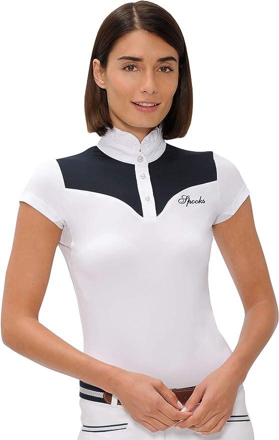 SPOOKS Turniershirt Showshirt Bicolor White//Navy Gr/ö/ße XS-XXL