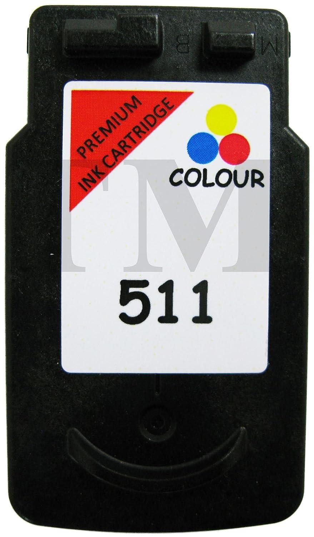 Pack de cartuchos de tinta reciclados equivalentes a PG-510 y CL-511 de tinta negra y de color para impresoras Canon Pixma IP2700, iP2702, MP230, ...