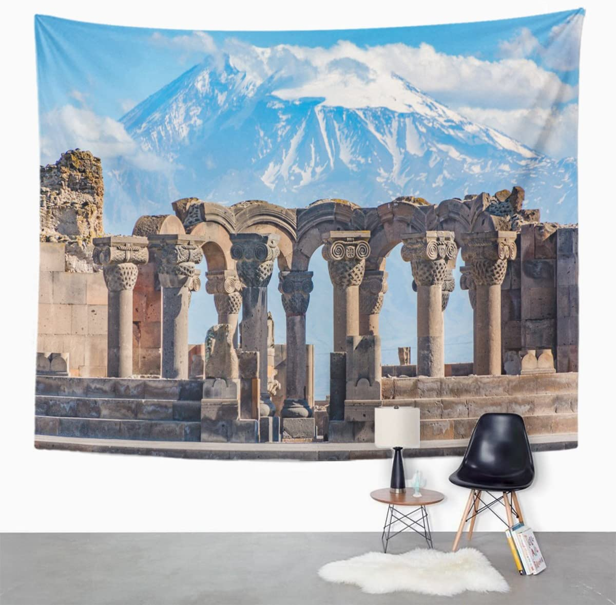 Amazon.com: TOMPOP Tapestry Ruins of The Zvartnos Temple in