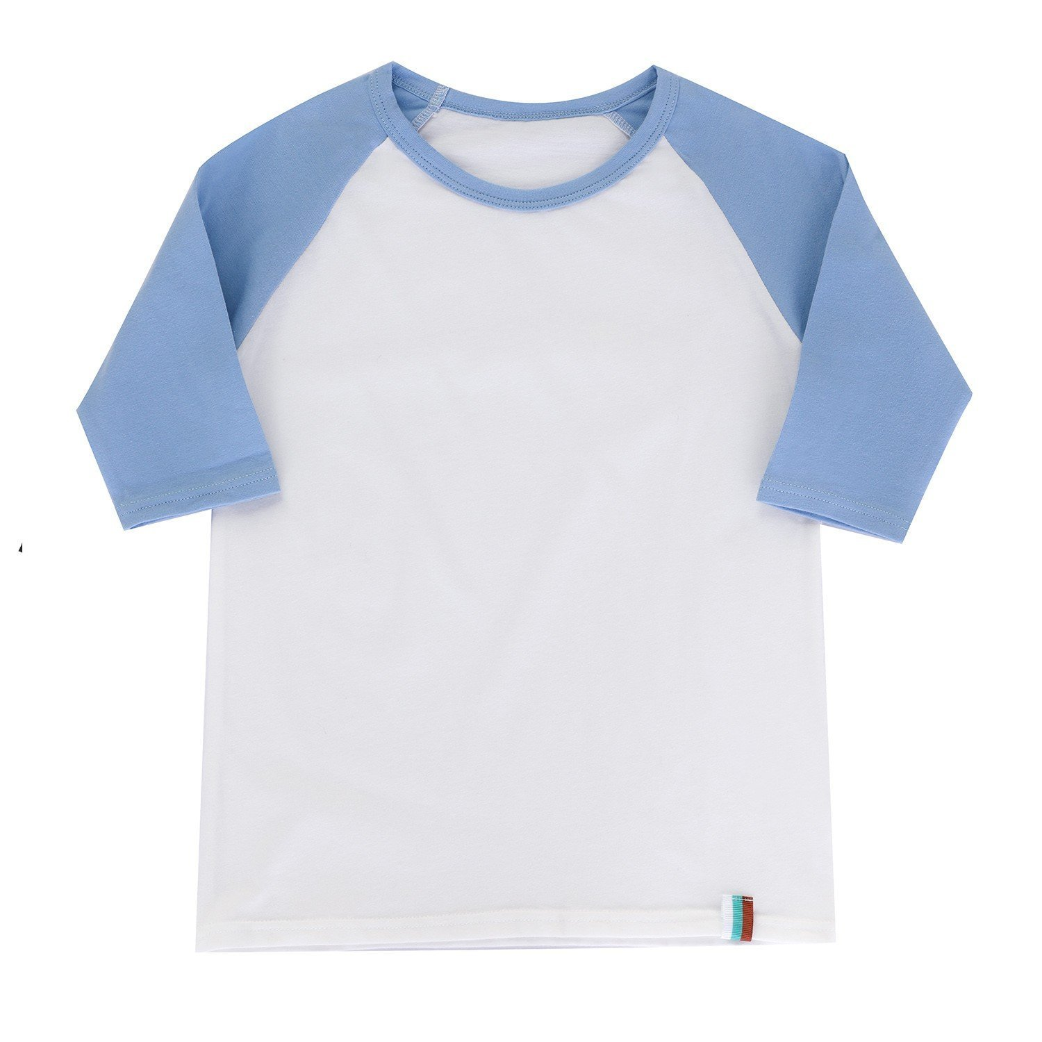 BesserBay Toddler Baseball Jersey Contrast 3/4 Sleeves Tee Raglan Soft T Shirts