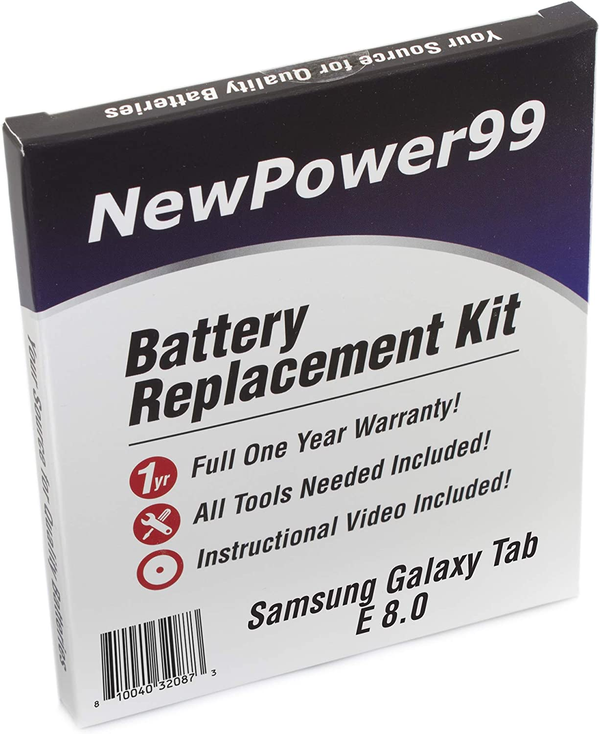 SM-T377 with Tools Battery from NewPower99 Battery Kit for Samsung Galaxy Tab E 8.0 SM-T375 How-to Video