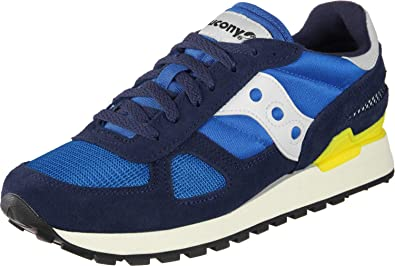 size 40 44aba 45dbc Saucony Shoes Men Low Sneakers S70424-7 Shadow Original Vintage Size 40  Blue Yellow