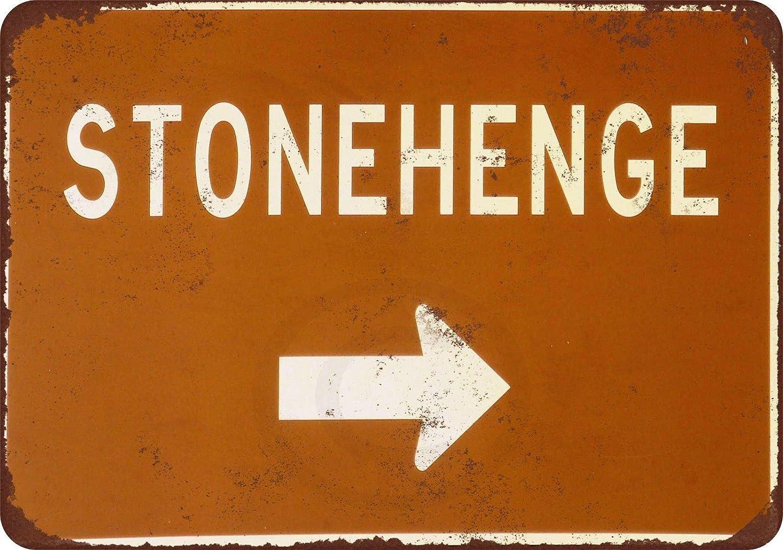 nobrand Stonehenge Retro Poster Wall Decor Cafe Bar Metal Tin Signs 8x12 inch