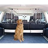 AmazonBasics Adjustable Dog Car Barrier - 16-Inch, Gray