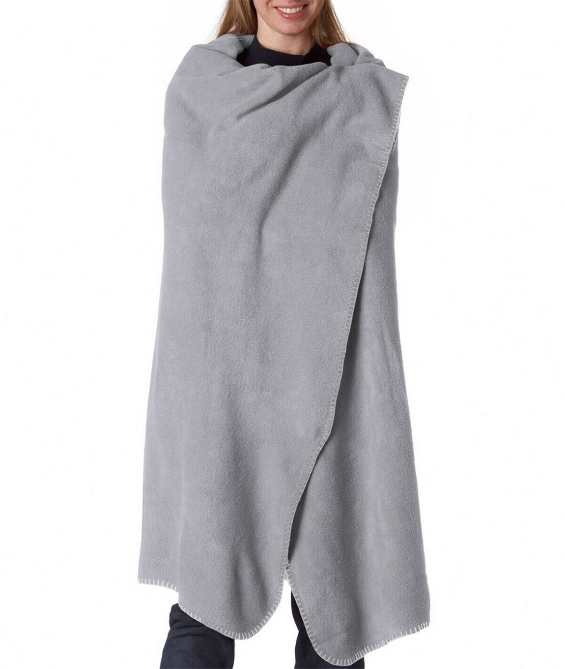 Ultraclub 8484 Iceberg Fleece Blanket - Grey - One