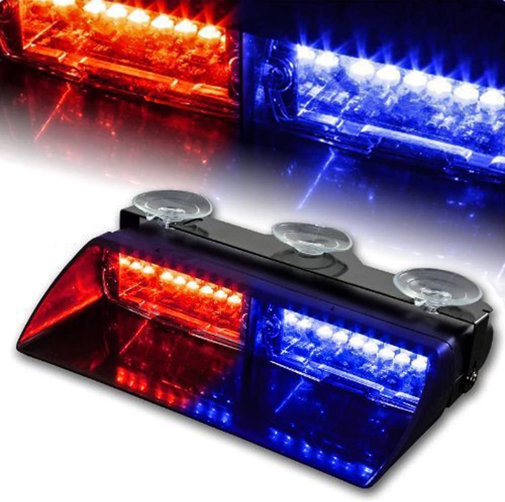 White WoneNice 16 LED High Intensity LED Law Enforcement Emergency Hazard Warning Strobe Lights 18 Modes for Interior Roof//Dash//Windshield with Suction Cups