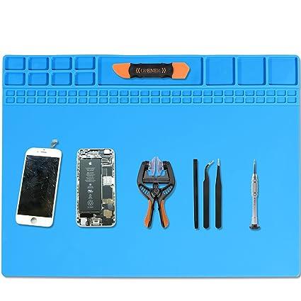 magnetic silicone soldering mat heat resistant 932 f electronics rh amazon com