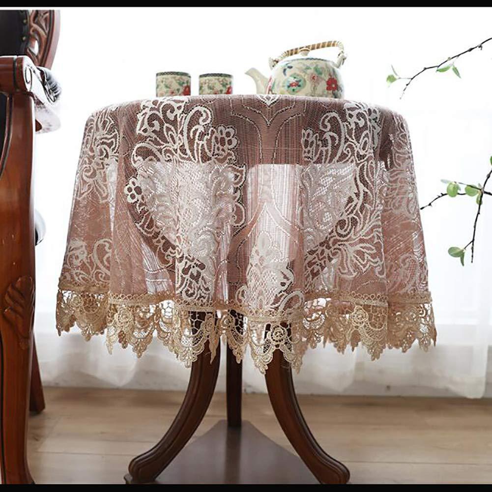 ヴィンテージ レース テーブル, 刺繍 テーブル クロス 食品 中空 装飾的です テーブルカバー トッパー パーティーのため 防塵 結婚 ディナー コーヒー-a Diametro200cm(79inch) diametro200cm(79inch) A B07SKFPN4R