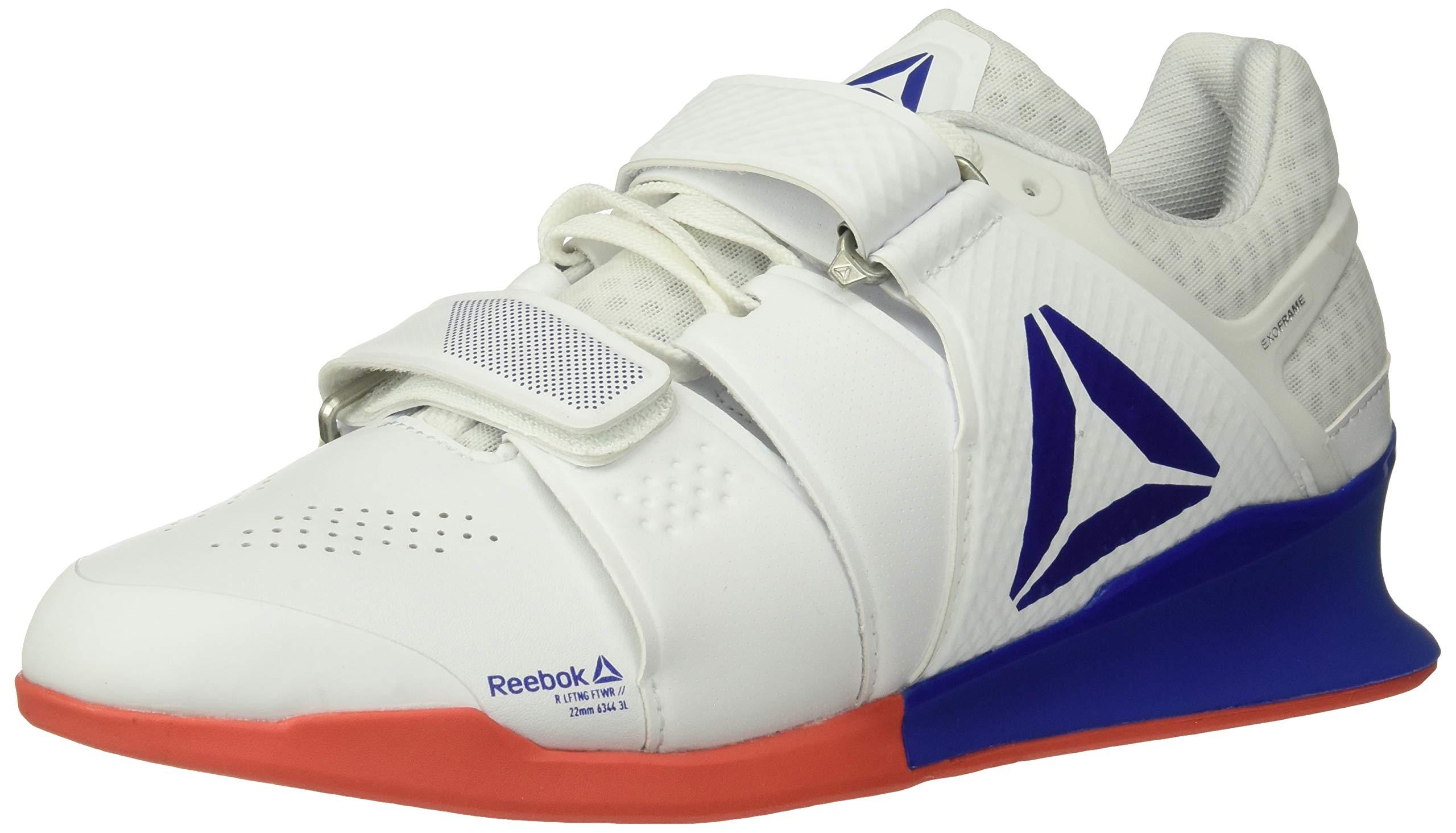 Reebok Men's Legacylifter Cross Trainer, White/Cobalt/Rosette, 8.5 M US by Reebok