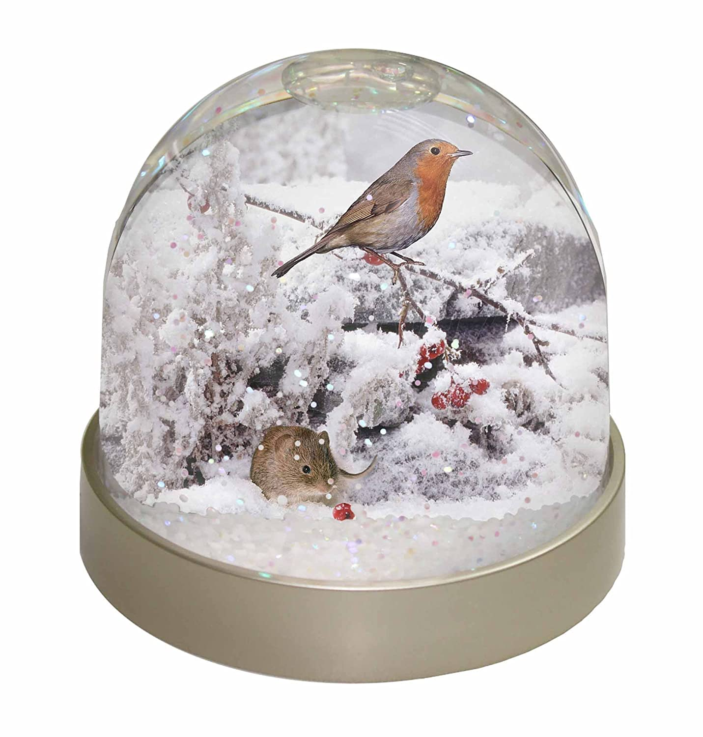Snow Mouse and Snow Robin Warerball Christmas Gift - just like your gran used to own!