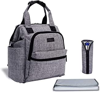 Diaper Bag, MODAR Multi-Functional Nappy Bag Waterproof Mom Backpack, Mom Backpack Baby Travel Bag, Insulated Bag, Changing Bag