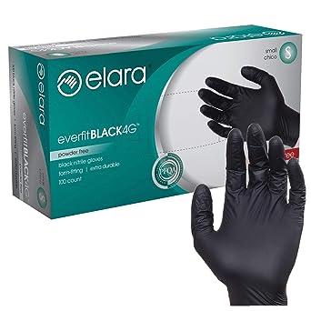 Disposable Heavy Duty BLACK Powder Free Nitrile Medical Gloves Box 100 Tattooist Tattoo Mechanic Small