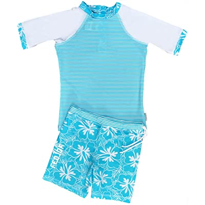 FEDJOA Maillot de bain anti uv - fille - BLUE ISLAND - Innovation Anti Sable