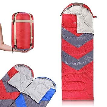 Amazon.com: Abco Tech Saco de dormir con capucha, se puede ...
