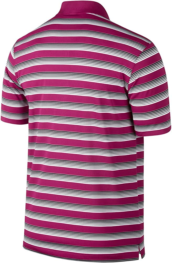 Nike Golf Tech Vent Stripe Polo Sport Fuchsia/Black: Amazon.es ...
