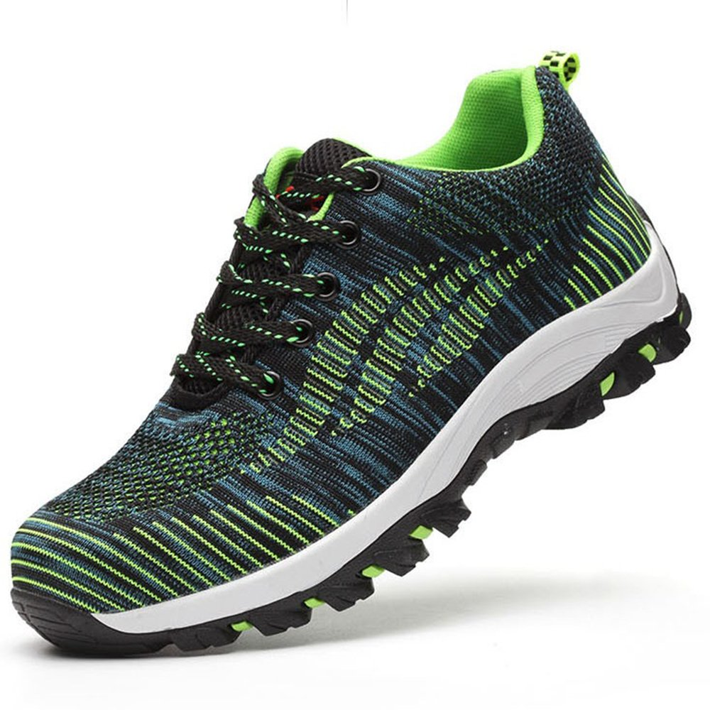 71b882b2bff SUADEEX Womens Mens Safety Shoes Steel Toe Cap Work Shoes Trainers Flyknit  Breathable Lightweight Ankle Hiking Shoes Sport Sneaker