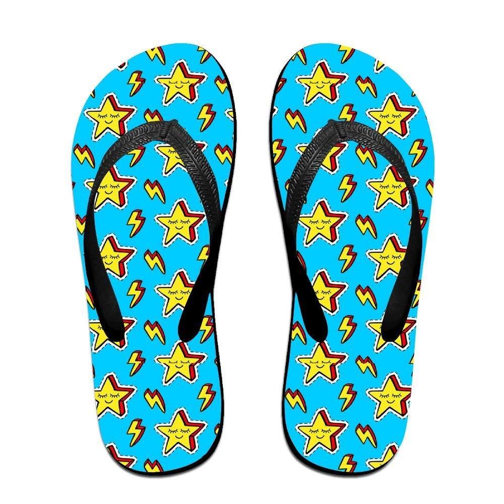 Kelysun Summer Beach Sanls Funny Stars Comfortable Flip-Flop Multiple Sizes Unisex