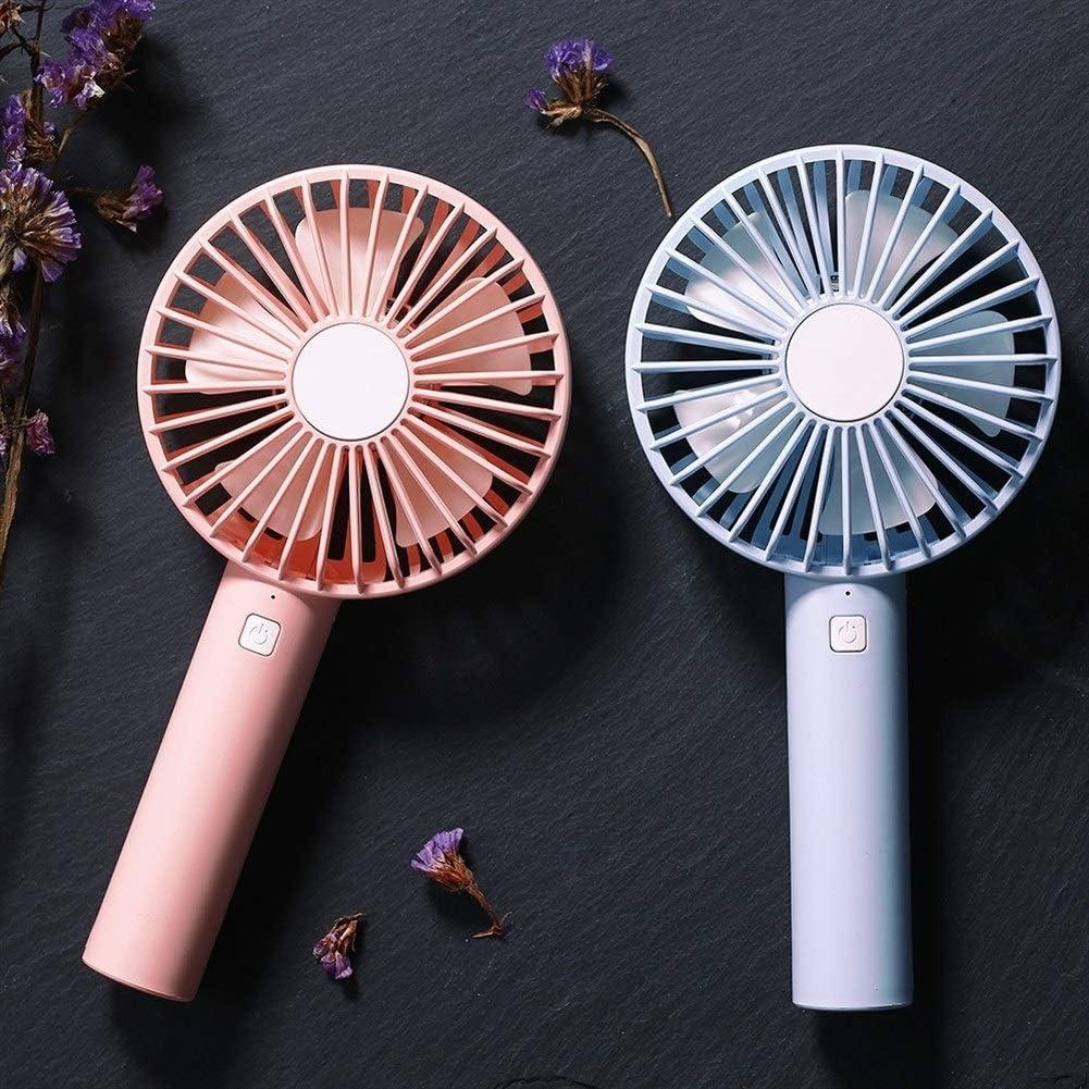 Color : Pink Air Cooling Fan Donut USB Fan Portable Handheld Table Fan Mini Personal Fan Desktop Fan with Detachable Silicone Base