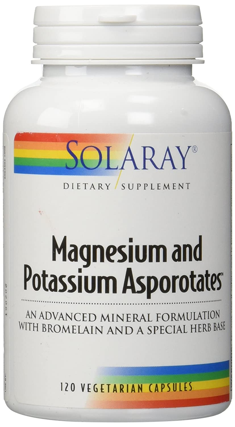 Amazon.com : Magnesium and Potassium Asporotate Solaray 120 Caps : Magnesium Mineral Supplements : Beauty