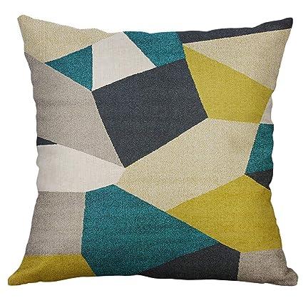 Amazon.com : Pausseo Square Pillowcase Irregular Geometric ...