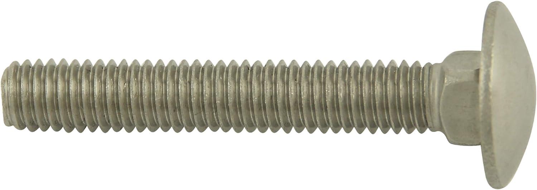 20 St/ück BiBa Schrauben Schlossschrauben Flachrundschrauben M10x100//100 Torbandschrauben Edelstahl A2 |DIN 603|Vollgewinde mit Vierkantansatz V2A