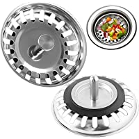 Sink Strainer,H HOME-MART 2 Pack Upgrade Kitchen Sink Strainers in Kitchens and Bathrooms Plug 31.22inch Diameter…