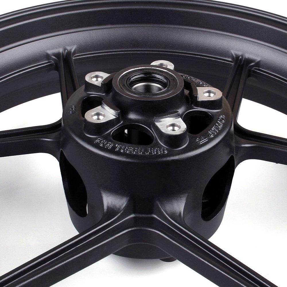 Artudatech Front Wheel Rim For Kawasaki ZX6R 2009-2010 ZX10R 2006-2010 Black by Artudatech (Image #2)