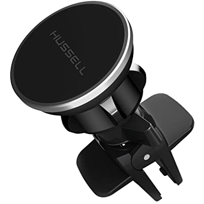 Magnetic Air Vent Car Phone Mount - 2020 Updated Version by HUSSELL - for Any Smartphone - Car Phone Holder - Universal Cell Phone Holder - Vent Phone Holder - Car Vent Mount - Air Vent Mount Holder: Home & Kitchen