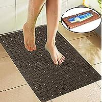 Bulfyss Non Slip Bathroom Mat, Bathtub Mat, Shower Mat, Bath Mat with Suction Cups 66 x 38 cm (Brown)