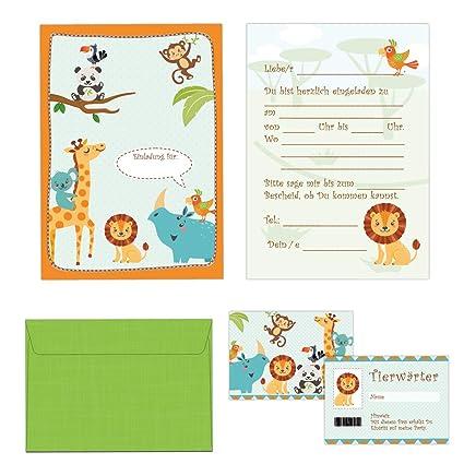 Juego de tarjetas de invitación 24 piezas infantiles -