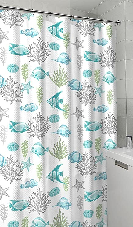 Essential Home Allure Fish Wish Tropical Shower Curtain Hooks