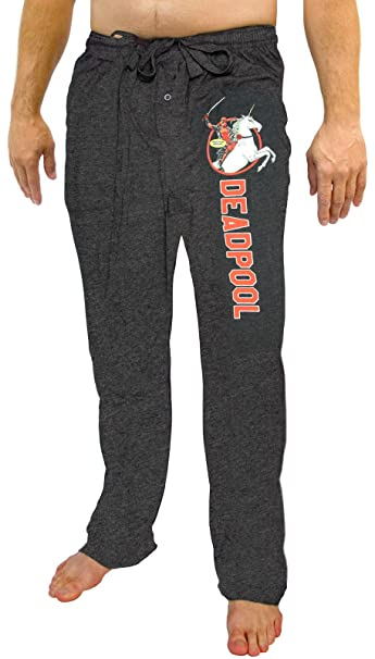 Marvel Comics Deadpool Riding Unicorn Knit Sleep Lounge Pants ...