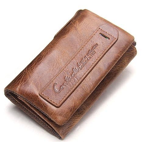 Billetera de cuero para hombres Monedero de los hombres ...