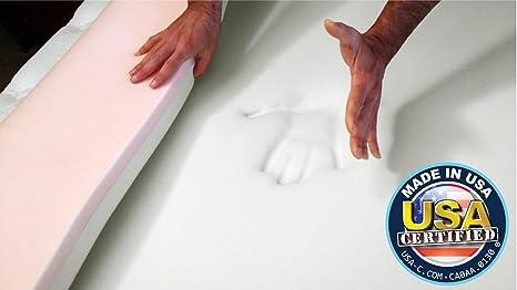 snuggle-pedic patentado Reversible 4lb. y fibra de densidad.) combinación viscoelástico colchón