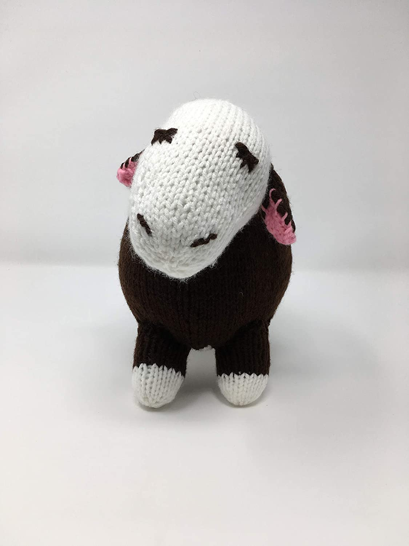 Sheepish Cow Premier Quality Hand Knit Hand Stuffed