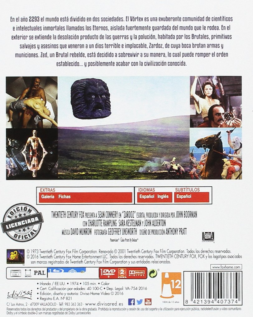 Amazon.com: Zardoz (Blu Ray + Dvd) [ Non-usa Format: Pal -Import- Spain ]: Movies & TV