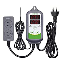 Inkbird ITC-308 AU Plug Pre-wired Digital Temperature Controller Dual Stage Heat Cool Controller for Beer brewing Homebrew Aquaiurm Hatching Reptiles Greenhouse Freezer Fridge Sous vide