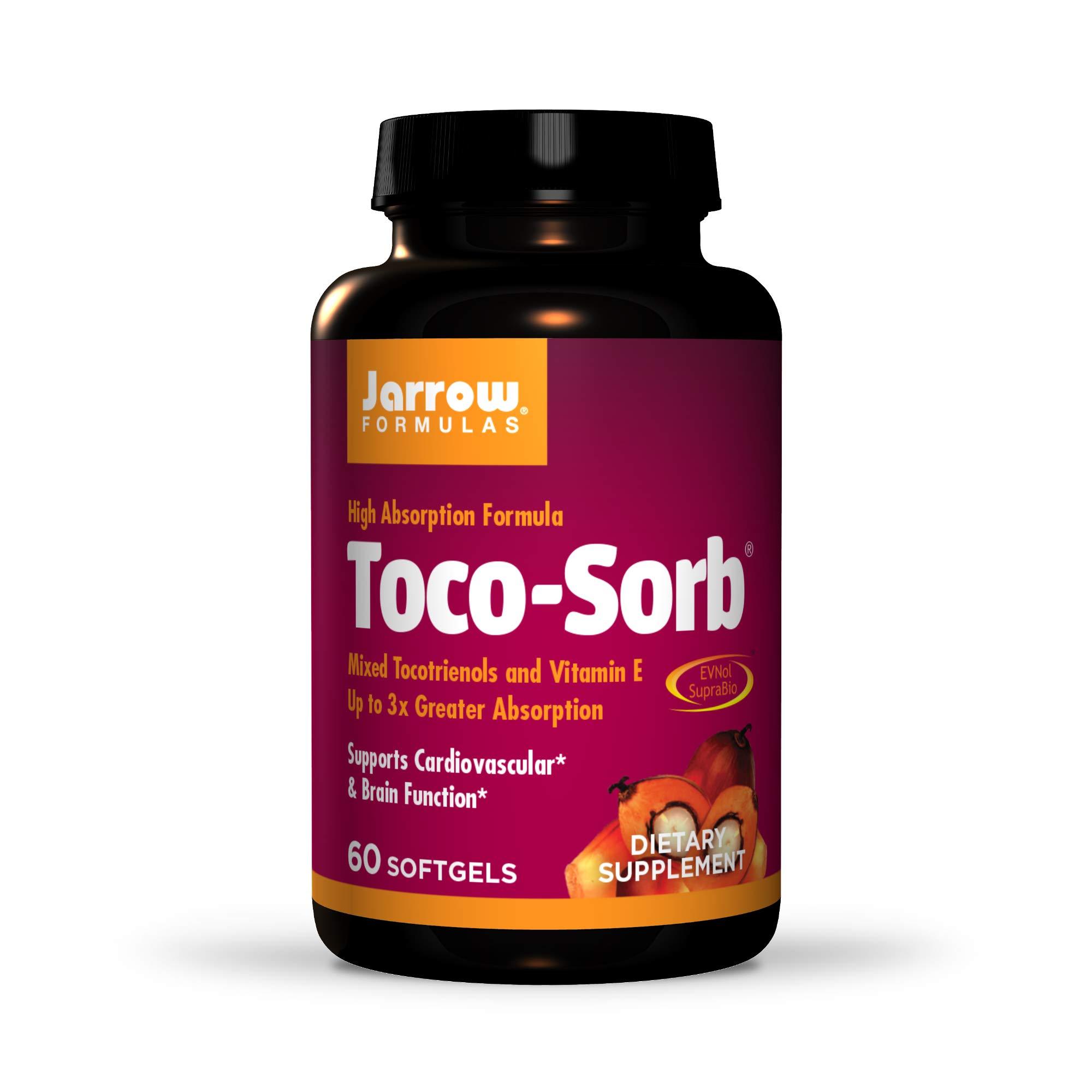 Jarrow Formulas Toco-Sorb, Supports Healthy Cardiovascular & Brain Function, 60 Softgels