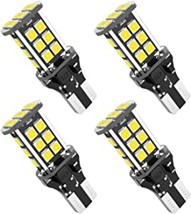 921 912 W16W 3030 24SMD Chipsets LED Bulbs Used For Backup Reverse Lights, Xenon White(4pcs/pack)