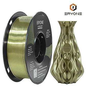 Filamento PLA Bronce Ultra Seda 1.75mm, Impresión 3D ERYONE Super ...