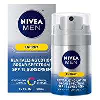 Deals on Nivea Men Energy Lotion Broad Spectrum Spf 15 Sunscreen 1.7Oz