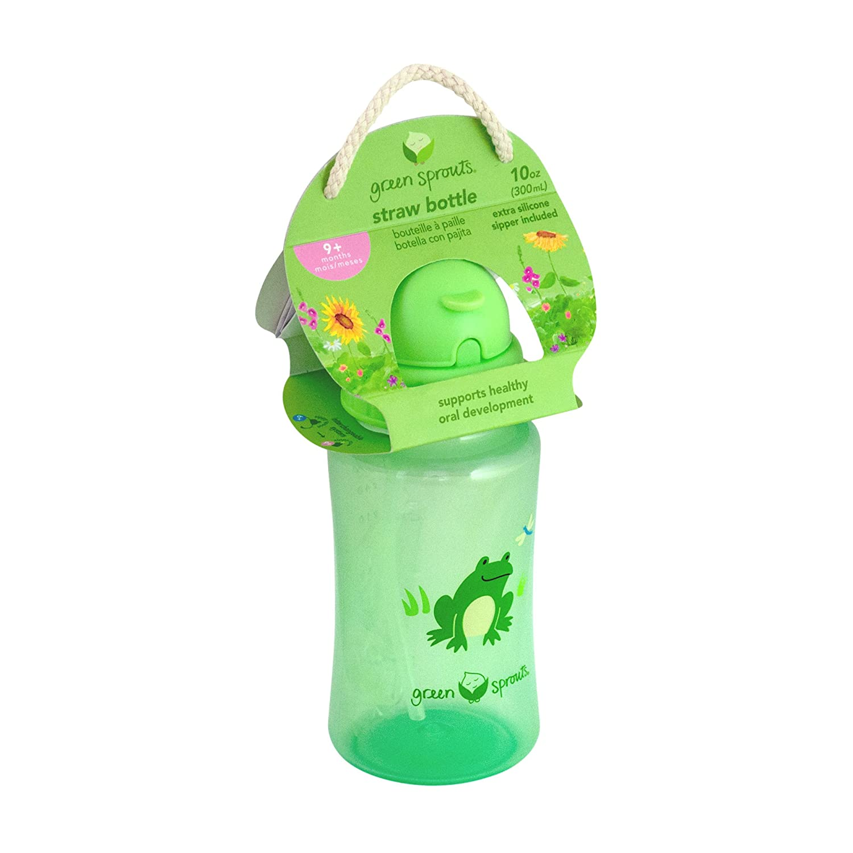 Aqua Green Sprouts Paille Bouteille
