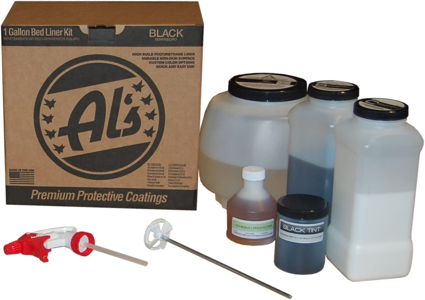 Al's Liner Premium DIY Polyurethane Spray-On Truck Bed Liner Kit