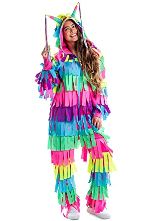 0fb4146f21 Amazon.com  Tipsy Elves Funny Pinata Costume for Halloween - Adult Pinata  Outfit Jumpsuit Onesie  Clothing
